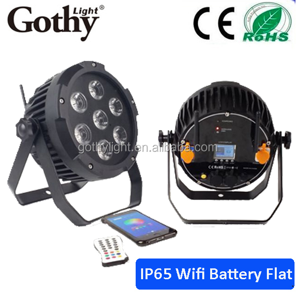 Waterproof par battery 7x15w Battery Wireless dmx LED Stage Wall Washer DJ light led uplight