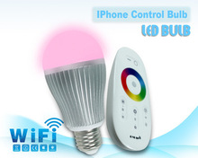 Android and IOS Apps support Smart phone control light RGBW e27 wifi led bulb