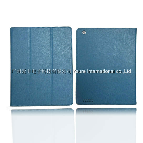 New Products stand leather cover for ipad air pu bumper case