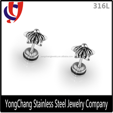 316 Surgical stainless steel star shaped free allergy best selling earrings