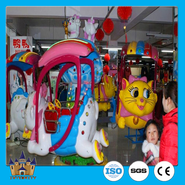 carnival amusement park equipment indoor kiddie lucky cat playground ride