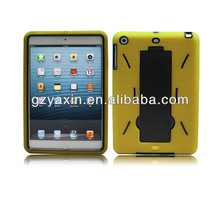 For APPLE iPad Mini Tablet Heavy Duty Symbiosis Stand Phone Case Black/Hot Pink