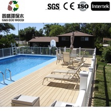 Outdoor wood plastic composite / eco-friendly wpc decking floor / anti-uv wpc decking
