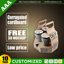 Retail recycle cardboard corrugated wine carry packs