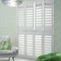 Hote sale basswood plantation shutter with popular design in window decoration