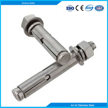 Stainless Steel A4 A2 Concrete Expansion Anchor Bolt With Nuts Flat Spring Washers