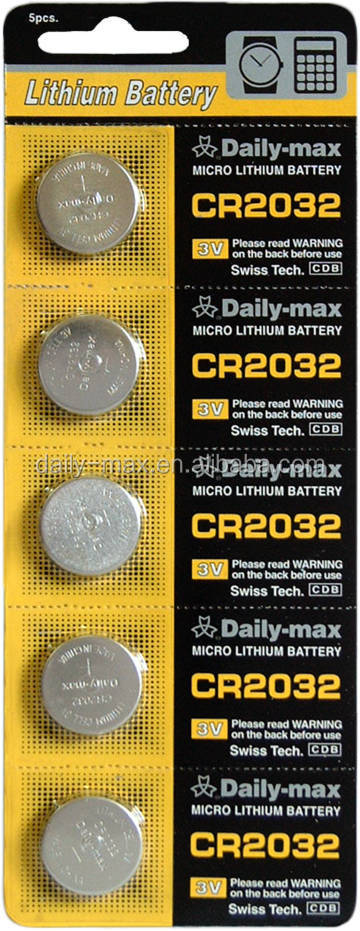 CR2032 3V Button Cell nonrechargeable battery