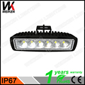 6X3 led headlight 18w wholesale water resistant single row IP67 6500k orrfoad auto work led light