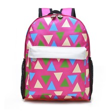 Wholesale Cheap Children Canvas Printing Color Kids Backpack