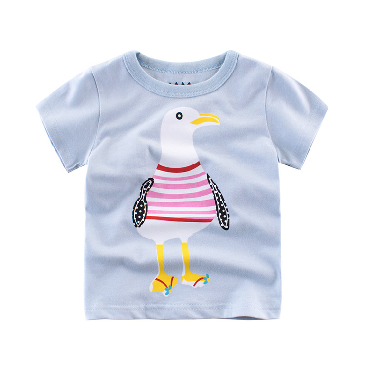 Cheap promotional bulk children printed 100% cotton custom t-shirt