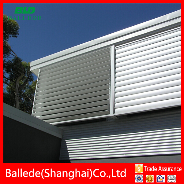 prefabricated automatic aluminium window louvre for sunshade