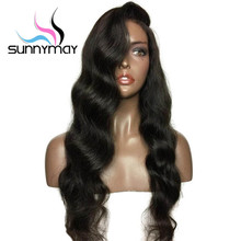 cheap body wave natural human hair wigs,free lace wig samples,26 inch virgin peruvian human hair lace front wigs with baby hair
