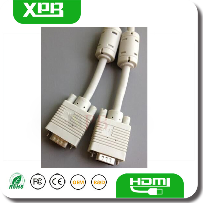 Wholesale VGA 15 Pin Male to Female Cable PVC Shell