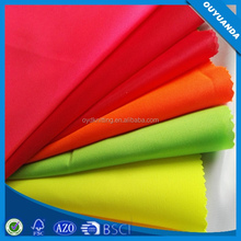 Anti-static Warp Knitting Fluorescent Fabric Used Safety Garments/Raincoat