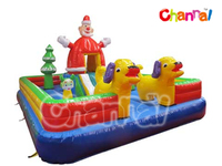 Christmas Inflatable Bouncer Fun City for amusement rental park