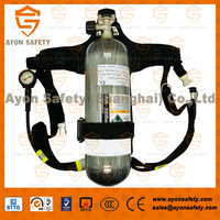 oxygen breathing apparatus respiratory protection with high pressure 6.8L carbon fiber O2 bottles