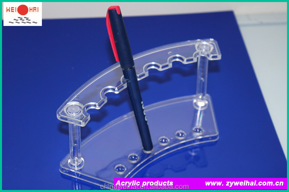 Clear Plastic Detachable Business Gift Ball Point Pen Rack