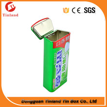 Mini Chewing Gum Tin Box With Double Lids