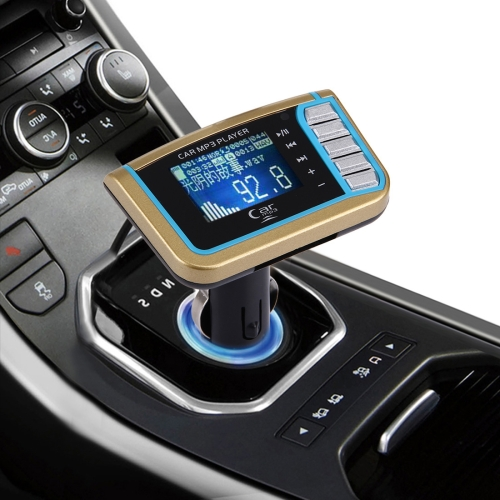 In stock low price Music Car MP3 Player with FM Transmitter with Remote Control, Support TF / SD Card / USB Flash Disk(Gold)
