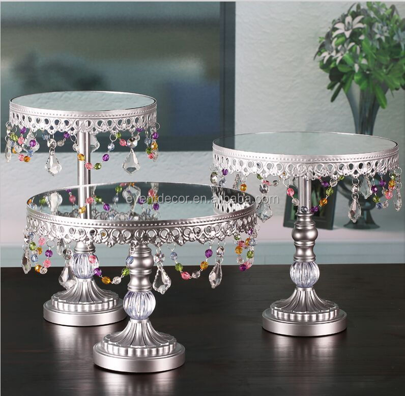 New products ! Silver cake stand , round cupcake stand for home decoration