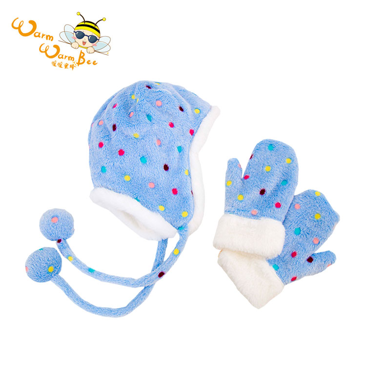 Warm Warm Baby Boy Hat And Gloves Set