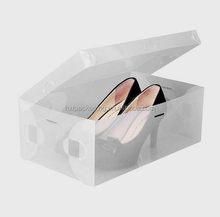 Wholesale PVC shoe packing box with handle