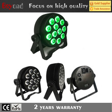 party supply 12* 4in1Die-casting Alumium led slim par can, par light for night club