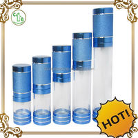 High quality airless bottle ,airless plastic transparent air freshener plastic bottles