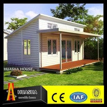 Fashion wooden bungalo house wuth 2 bedrooms floor plan