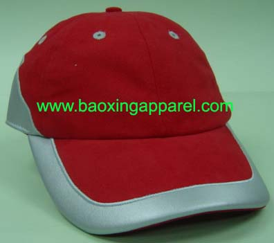 adjustable reflective piping cotton twill baseball hat caps