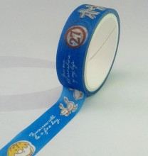 free sample cute cartoon design washi paper prism printing tape for decorative box