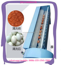 lowest price egg washing machine/hen egg cleaning machine/automatic egg cleaner with nylon brush