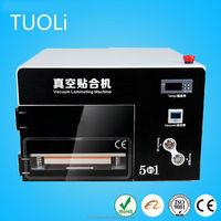 Mobile phone lcd laminator machine with bubble remover + oca film laminator + lcd touch screen glass separator