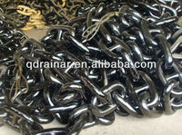 dia 20-60mm black bituminous painted marine Boat Mooring anchor chain with CCS ABS LR cert