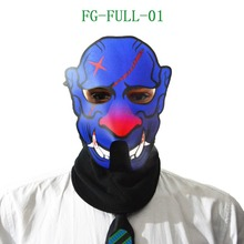 2018 hot selling face mask led glowing party mask