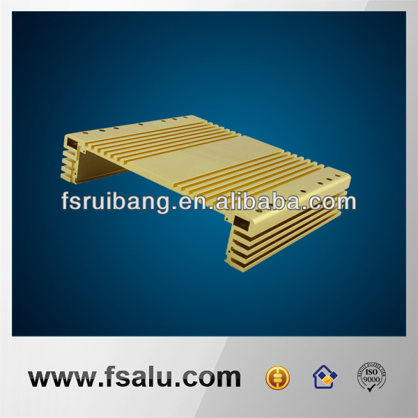 gold anodizing extrusion aluminum Heatsink Shell