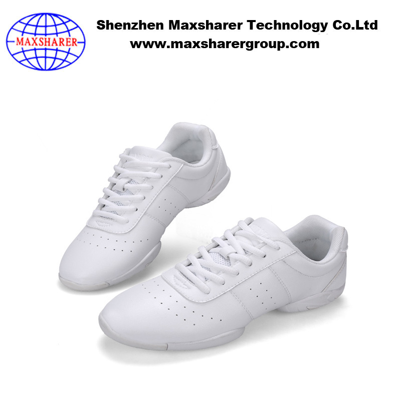 dance shoe cheerleading white comfortable rubber leather shoe sneakers for women fashion