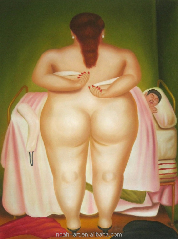 Famous Handmade Nude Fat Woman Oil Painting