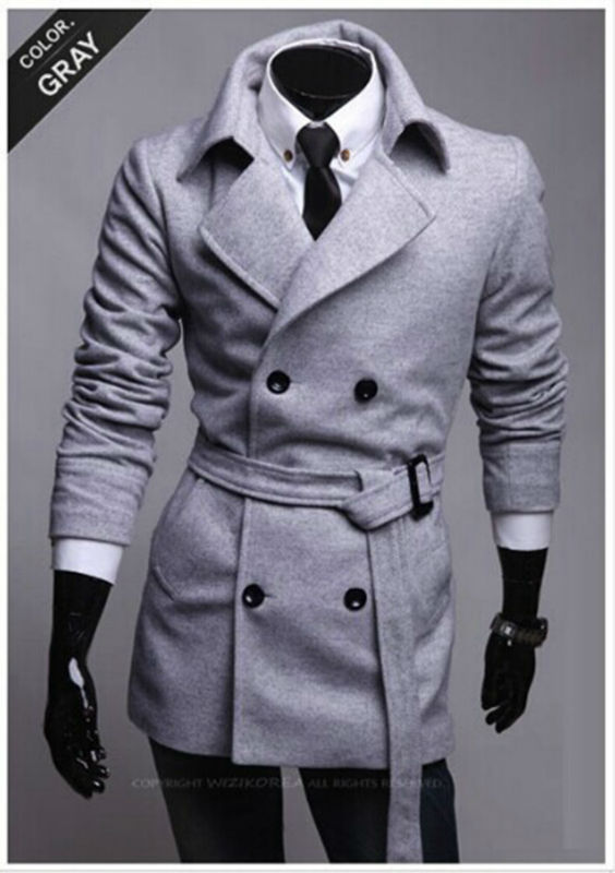 walson New arrival promotional s new winter Slim Belt simple double-breasted woolcoat, Korean men's winter long coat
