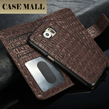 2015 new product 2 in 1 leather case for samsung galaxy s6 2 in1 Crocodile Leather cell phone case