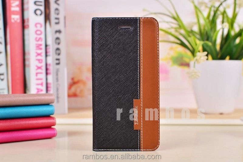 2014 New Hot Products Smartphone Accessories Stand Book Leather Telephone Case for iPhone 6