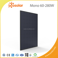New PV Product Black Mono 280W PV Module With TUV CE Certification