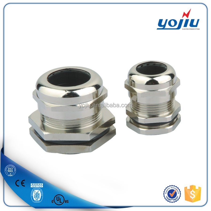 Waterproof strain relief nickel-plated brass pg13.5 nylon cable gland price