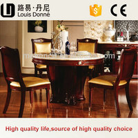New Design Home Furniture Antique Cheap Red Round Wooden Table