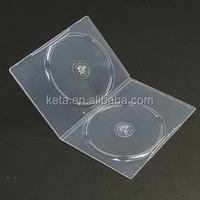 7MM Double Disks Clear Plastic DVD case