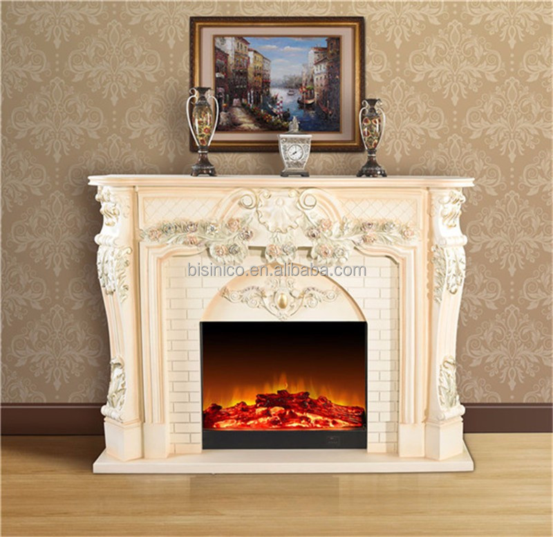 european royal electric fireplace with floral fake flame electric fireplace mantel surround buy european royal electric - Electric Fireplace With Mantel