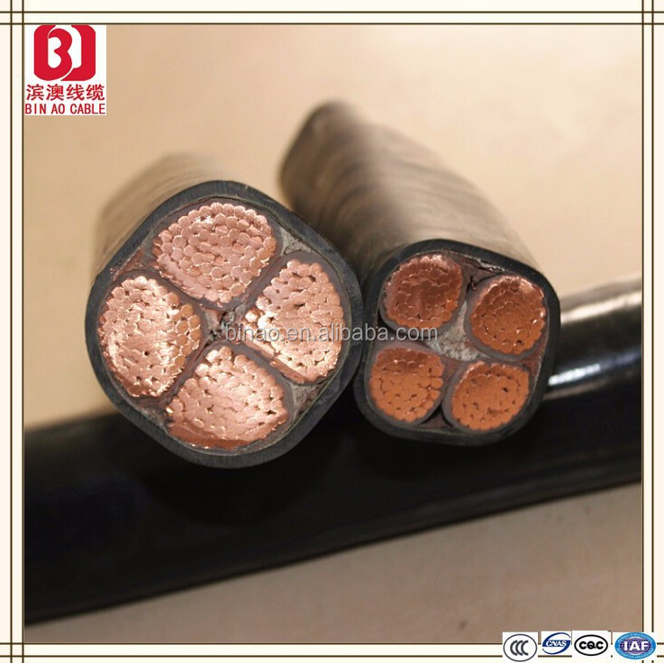 low voltage copper core PVC insulated PE sheathed electric wire flat cable