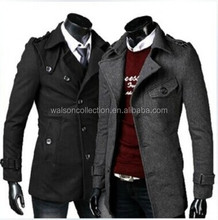 Spring and winter coat new men's small clamshell design woolen coat jacket