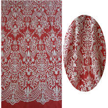 100% Polyester Net Mesh Guipure Allover Lace Fabric for Wedding Dress