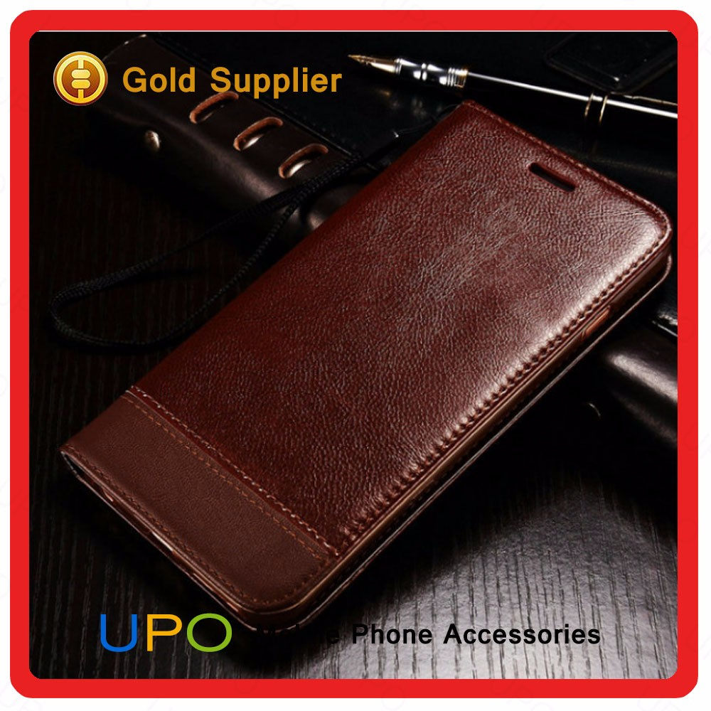 [UPO] High Quality Wallet Flip Stand Leather Mobile Phone Cover Case for Samsung Galaxy S7 Edge with Card Slot